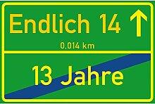 vanva Schild Endlich 14 Jahre Ortsschild 14.