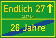 vanva Schild Endlich 27 Jahre Ortsschild 27.