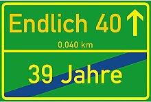 vanva Schild Endlich 40 Jahre Ortsschild 40.