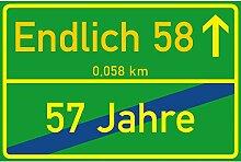 vanva Schild Endlich 58 Jahre Ortsschild 58.