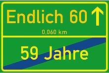 vanva Schild Endlich 60 Jahre Ortsschild 60.