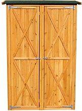 vanvilla Geräteschuppen Holz Flachdach Groß