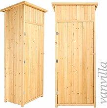 vanvilla Geräteschuppen Holz Flachdach