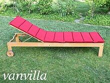 vanvilla Sonnenliege Gartenliege Holz Relaxliege