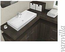 vanvilla Waschbecken Mineralguss Handwaschbecken Waschtisch Aufsatzwaschbecken Gussmarmor 9888