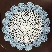 Vanyear Deckchen mit Häkelspitze, Blumendesign,