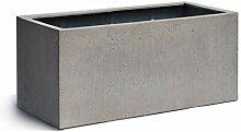 VAPLANTO® Pflanzkübel Box 100 Beton Grau