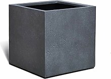 VAPLANTO® Pflanzkübel Cube 50 Blei Grau