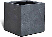 VAPLANTO® Pflanzkübel Cube 80 Blei Grau