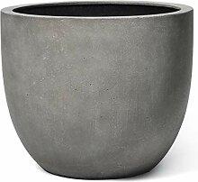 VAPLANTO® Pflanzkübel Egg Pot 60 Beton Grau Rund