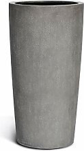 VAPLANTO® Pflanzkübel High Conus 90 Beton Grau