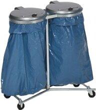 VAR Doppel Abfallsammler mit vier Laufrollen, für