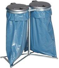 VAR Doppel Abfallsammler stationär, für zwei mal