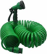 Varadyle Flexibler Spiral-Gartenschlauch mit Düse