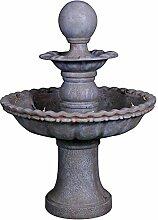 VARILANDO 2-stöckiger Garten-Brunnen aus
