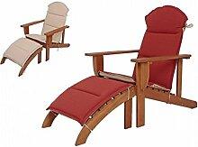VARILANDO® Adirondack-Chair mit Auflage aus
