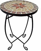 VARILANDO® Blumen-Hocker mit Mosaik-Platte