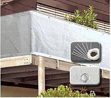 VARILANDO einfacher Garten-Sichtschutz aus weißem