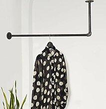 Various Kleiderstange in L-Form an Wand & Decke -