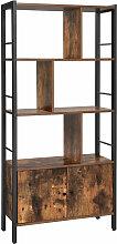 VASAGLE Bücherregal, Bücherschrank mit 4 offenen