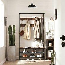 VASAGLE Garderobenständer im Industrie-Design,