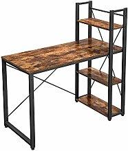 VASAGLE Schreibtisch, 120 cm Langer Computertisch