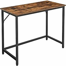 VASAGLE Schreibtisch, Computertisch, schmaler