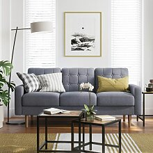 VASAGLE Sofa, Couch fürs Wohnzimmer, Bezug aus