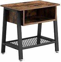 VASAGLE Vintage Nachttisch, stabiler Beistelltisch