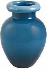Vase Amphore Durchmesser 27x H.36cm blau