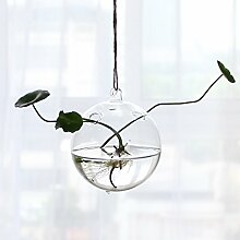 Vase aus Glas Flasche transparent Kugel 12cm
