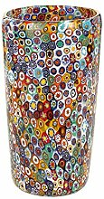 Vase aus Glas von Murano mit Muranoglas Millefiori