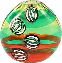 Vase aus Glas von Murano, murrine, Murano Glas