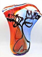Vase aus Murano-Glas, hergestellt in der Hand von