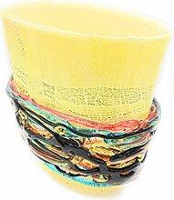 Vase aus Murano-Glas, hergestellt von Hand aus