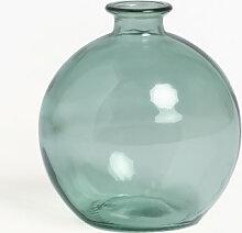 Vase aus recyceltem Glas Kimma Grün Aquamarine