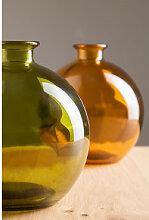 Vase aus recyceltem Glas Kimma Grün Laubgrün