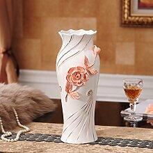 Vase Blumenornamenten Töpfe Keramik Wohnzimmer