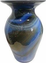 Vase Bodenvase farbige Blumenvase blau weiss braun