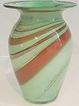 Vase Bodenvase farbige Blumenvase grün weiss