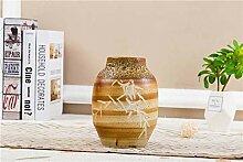 Vase DecorMalerische braune handgeschnitzte