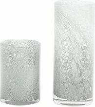 Vase Dutz Cylinder white bubbles