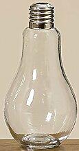 Vase Glühbirne H22cm