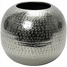 Vase Hammerschlag Aluminium gehämmert vernickelt