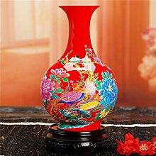 Vase Hochzeit Dekoration Gelb Rot Vase Blumenvase Geschenk