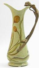 Vase im Jugenstil / Gründerzeit Henkel Bronze Akt Bronzeakt NIXE Antikdeko Antik