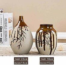 VasesSchöne Bambus glasierte keramische Vase