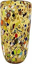 Vaso CONICO ARLECCHINO Vase Glas Blattsilber