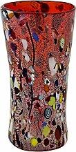 VASO LARGE ARLECCHINO Vase Glas Blattgold Murrine