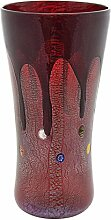 VASO LARGE GOCCIA Vase Glas Blattgold Murrine Made